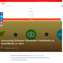 FreshBooks vs. QuickBooks vs. Xero