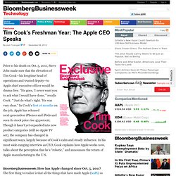 Tim Cook's Freshman Year: The Apple CEO Speaks