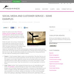 Social media and customer service – some examples