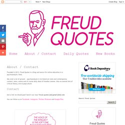 freud quotes: About / Contact