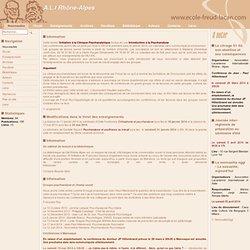 Nouveautés-Ecole Rhône-Alpes d'Etudes Freudiennes et Lacaniennes