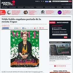 Frida Kahlo engalana portada de la revista Vogue