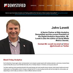 John Lovett's Blog at Web Analytics Demystified