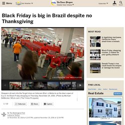Black Friday is big in Brazil despite no Thanksgiving