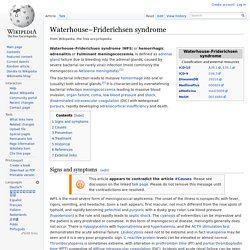 Waterhouse–Friderichsen syndrome