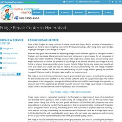Fridge Repair Center in Hyderabad