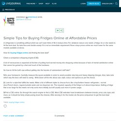 Simple Tips for Buying Fridges Online at Affordable Prices: preezieaus