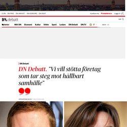 """Gustav Fridolin (MP) och Isabella Lövin (MP): """"Vi vill stötta företag som tar steg mot hållbart samhälle"""""""