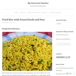 Fried Rice with Fennel Seeds and Peas