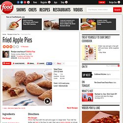 Fried Apple Pies Recipe : Bobby Flay