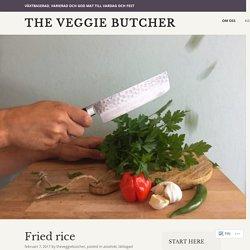 Fried rice – The Veggie Butcher