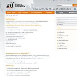 ZIF - Zentrum für Internationale Friedenseinsätze