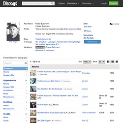 Frieder Butzmann - Bio, CDs and Vinyl at Discogs
