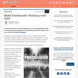 Marti Friedlander: Painting with light