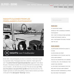 Olivier Duong » Insights gleaned from Lee Friedlander's photography