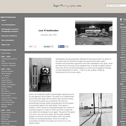 Lee Friedlander / Biography & Images - Atget Photography.com / Videos Books & Quotes