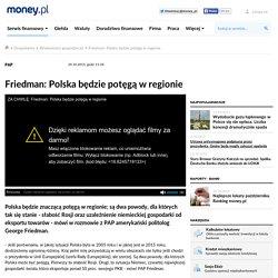 Friedman: Polska będzie potęgą w regionie