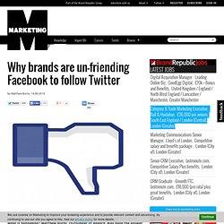 Un-friending Facebook to follow Twitter
