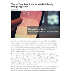 Thumb Zone Test: Another Mobile-Friendly Design Approach – Telegraph
