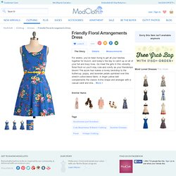 Friendly Floral Arrangements Dress