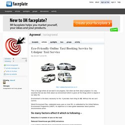Eco-Friendly Online Taxi Booking Service by Udaipur Taxi Service by Agrawal
