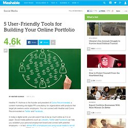 5 User-Friendly Tools for Building Your Online Portfolio