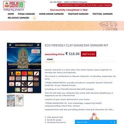 Eco Friendly Clay Ghanesha Samagri Kit
