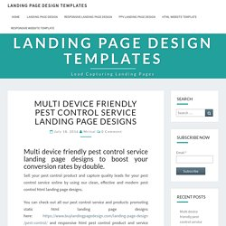 Multi device friendly pest control service landing page designs