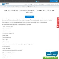 Ideal SEO Friendly Ecommerce Product Landing Page UI Design - FREE PSD