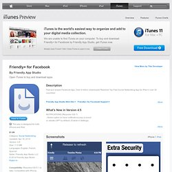 Friendly Plus for Facebook