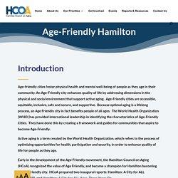 Age-Friendly Hamilton - Hamilton Council on Aging