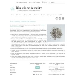 Recycled Eco Friendly Handmade Jewelry Tucson - Lila Clare