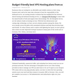 Budget-friendly best VPS Hosting plans from us – Telegraph