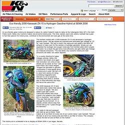 Eco friendly 2008 Kawasaki ZX-10 is Hydrogen Gasoline Hybrid at SEMA 2008
