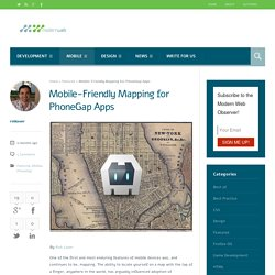 Mobile-Friendly Mapping for PhoneGap Apps - Modern Web