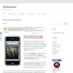 Make Pixelpost iPhone friendly | The Darkroom