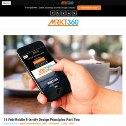 Mobile Friendly Design & Principles – SEO Company Toronto