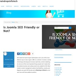 Is Joomla SEO Friendly or Not? - Raindrops Info-Tech