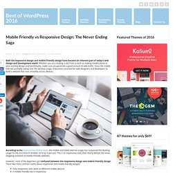 Mobile Friendly vs Responsive Design: The Never Ending Saga - WebCreate.Me