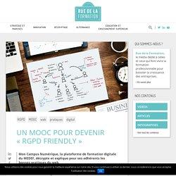 """Un MOOC pour devenir """"RGPD friendly"""" - ruedelaformation.org : ruedelaformation.org"""