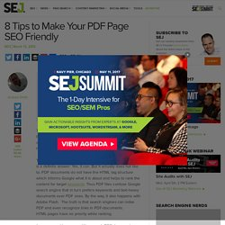 8 Tips to Make Your PDF Page SEO Friendly - Search Engine Journal