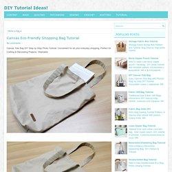 Canvas Eco-friendly Shopping Bag Tutorial ~