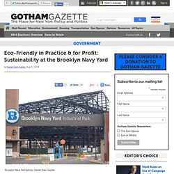 Eco-Friendly in Practice & for Profit: Sustainability at the Brooklyn Navy Yard