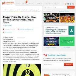 Finger-Friendly Design: Ideal Mobile Touchscreen Target Sizes