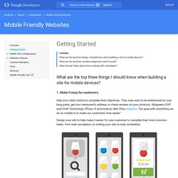 Get Started — Webmaster's Mobile Guide