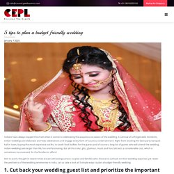 5 tips to plan a budget friendly wedding - Countrywide Events