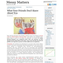 What Your Friends Don't Know About You | Messy Matters