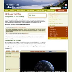 Friends of the Columbia Gorge:3D Gorge Trail Map