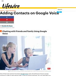 How to Add Friends and Family Contacts on Google Voice