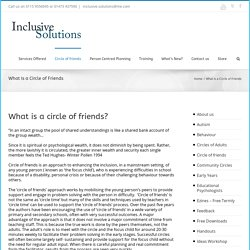 What Is a Circle of Friends - Inclusive Solutions